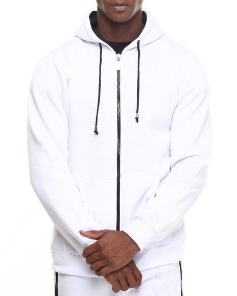 Buyers Picks - Men Black,White Color Contrast Hoody - $18.00