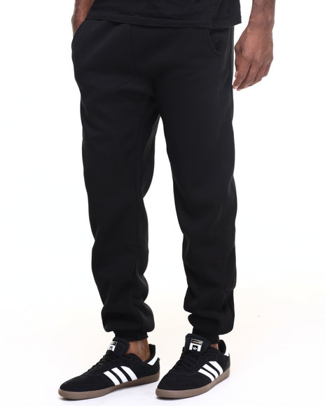 Buyers Picks - Men Black Basic Fleece Dropcrotch Jogger