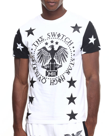 Buyers Picks - Men White Allover Star Tee