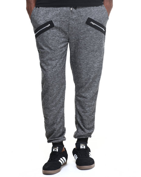 Buyers Picks - Men Charcoal Zipper Pocket Jogger