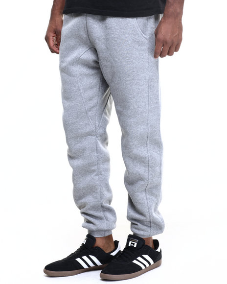Buyers Picks - Men Grey Basic Fleece Dropcrotch Jogger