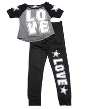 La Galleria - 2 PC - LOVE TEE & JOGGERS (4-6X)