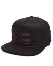 Strapback - Black Denim/Leather Biker Strapback