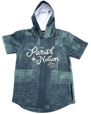 Hoodies - DENIM PRINT HOODED TOP  (8-20)