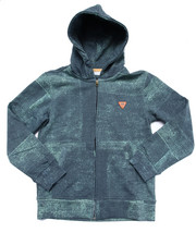 Boys - DENIM PRINT FULL ZIP HOODY (8-20)