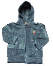 Boys - DENIM PRINT FULL ZIP HOODY (2T-4T)