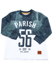 Tops - DENIM PRINT L/S TEE (2T-4T)