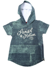 Hoodies - DENIM PRINT HOODED TOP  (2T-4T)