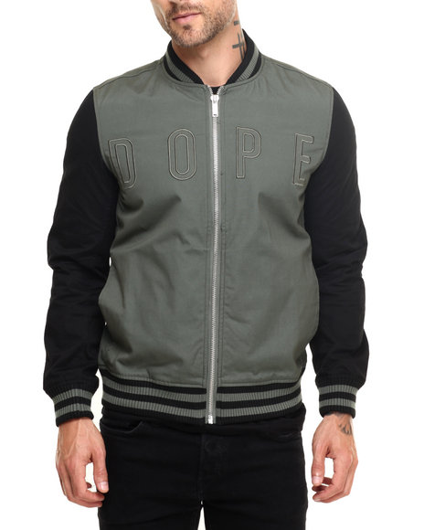 Dope - Men Olive Lightweight Knockout Bomber