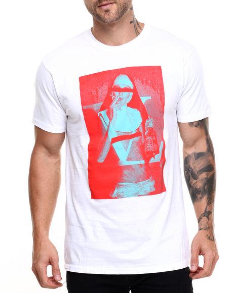 Vampire Life - Men White Censored Sister T-Shirt - $12.99