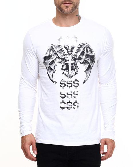 Vampire Life - Men White Money God L/S T-Shirt - $14.99
