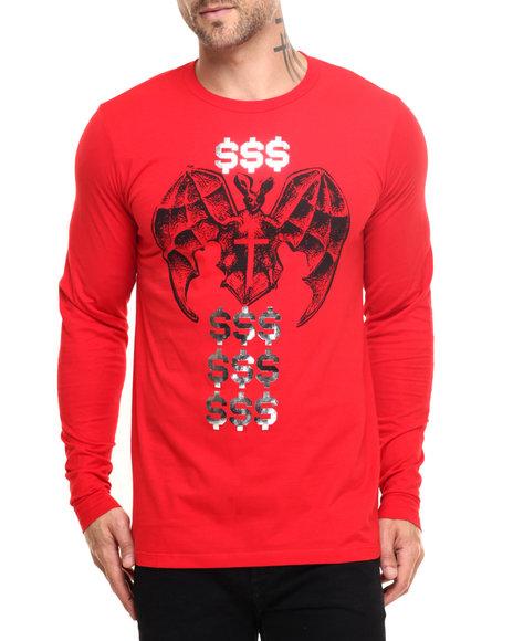 Vampire Life - Men Red Money God L/S T-Shirt