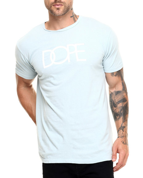 Dope - Men Blue Dope Logo Tee