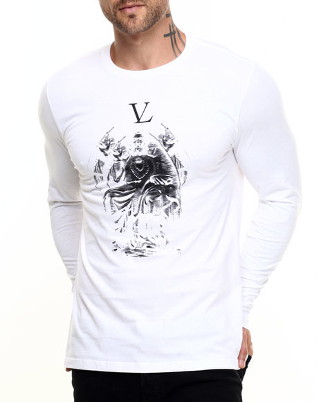 Vampire Life - Men White Dark Worship L/S T-Shirt