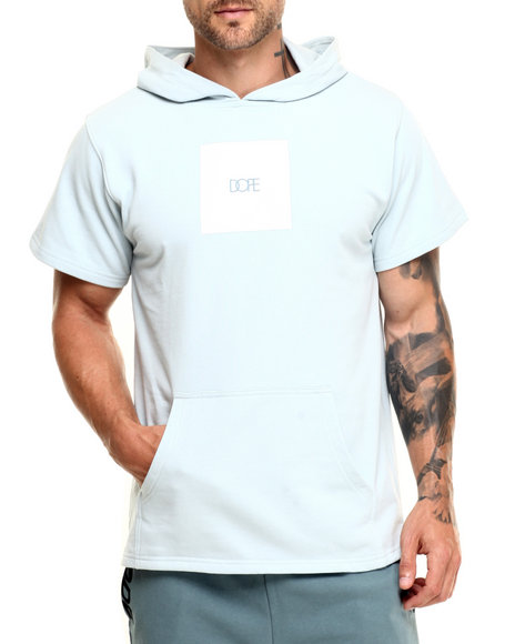 Dope - Men Blue Square Logo Short Sleeve Pullover