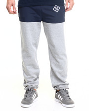Men - Waters & Army Logo Two - Tone Drawstring Fleece Pants