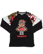 T-Shirts - L/S LIL' TOMMY CAMO CREW RAGLAN  (8-20)