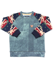 Boys - DENIM & AZTEC SWEATSHIRT (4-7)
