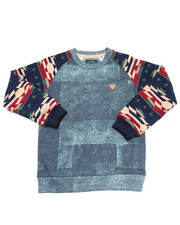 Boys - DENIM & AZTEC SWEATSHIRT (8-20)