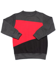 Boys - COLOR BLOCK ZIPPER SWEATSHIRT (8-20)