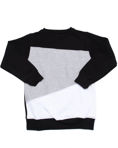 Srsly Fly - Boys Grey Color Block Zipper Sweatshirt (8-20)