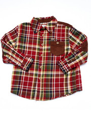 Long-Sleeve - L/S PLAID WOVEN (2T-4T)