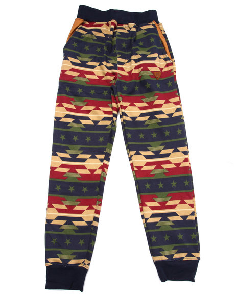 Parish - Boys Navy Aztec Print Joggers (8-20) - $29.99