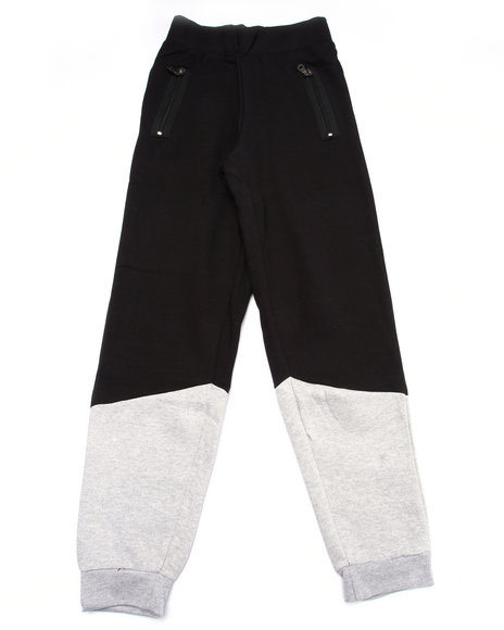 Srsly Fly - Boys Black Color Block Jogger (8-20)
