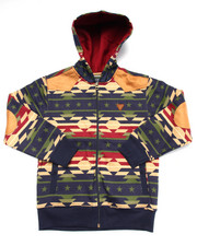 Hoodies - AZTEC FULL ZIP HOODY (8-20)