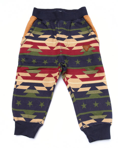 Parish - Boys Navy Aztec Print Joggers (2T-4T) - $23.99