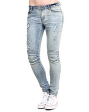 SOHO BABE - Wax Coated High Waist Moto Skinny Jean
