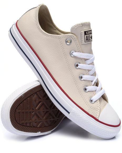 Converse Men Chuck Taylor All Star Leather Ox Cream 10