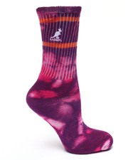 Deals-Women - 2 Pk Tie Dye Super Soft Cotton Crew Socks