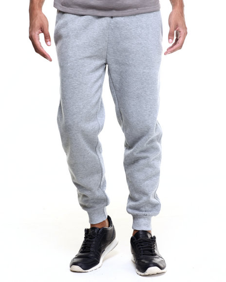 Basic Essentials - Men Grey Fleece Jogger Pants