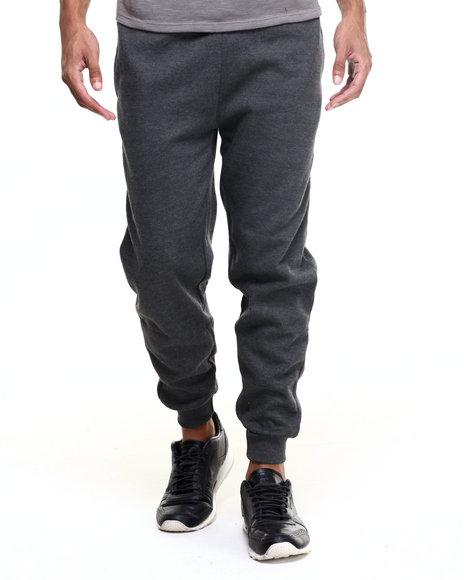 Basic Essentials - Men Grey Fleece Jogger Pants - $18.99