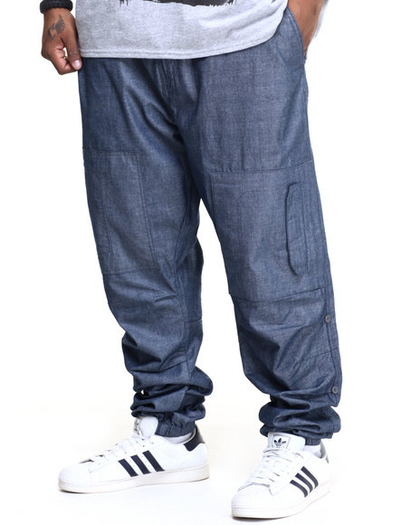 Sean John - Men Blue Knee Patch Flight Joggers