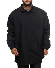 Men - Nylon - Sleeve L/S Button - Down