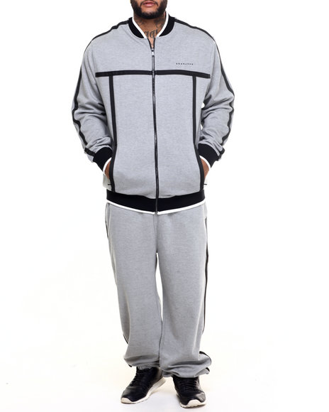 Sean John - Men Black Challenger Fleece Set