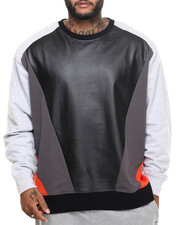 Pullover Sweatshirts - Alpha Constructed Crewneck Sweatshirt