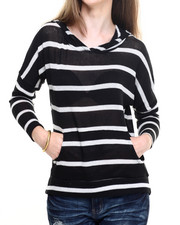 Fashion Lab - Lightweight Stripe Hoodie