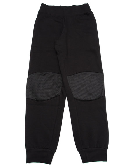 Srsly Fly - Boys Black French Terry Knee Patch Joggers (8-20)