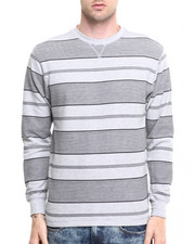 Basic Essentials - Crew Neck Printed Stripe L/S Thermal