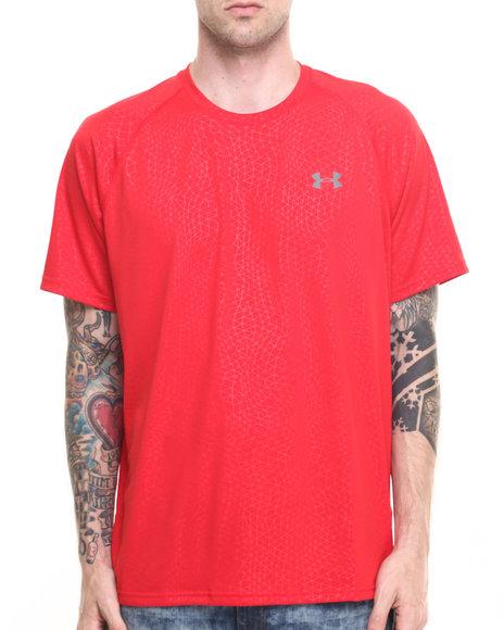 Under Armour - Men Red Tech Novelty S/S Shirt