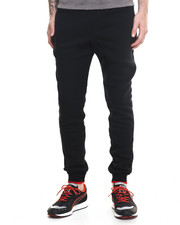 Basic Essentials - Fleece Jogger Pants w/ Contrast Trim