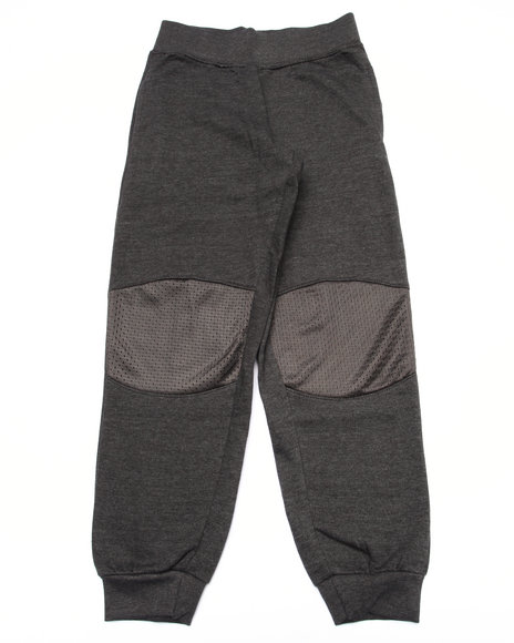 Srsly Fly Boys French Terry Knee Patch Joggers (820) Grey 1012 (M)