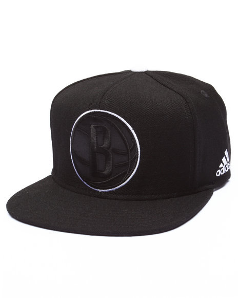 Adidas Men Brooklyn Nets Tonal Snapback Hat Black - $28.00