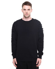 Sweatshirts - Cid Shredded Sleeve Crewneck Sweatshirt