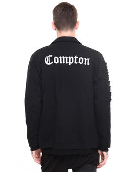 Drifter - Compton Shredded Sleeve Zip Up Jacket
