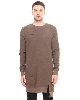 Sweaters - Weiss Elongated Crewneck Sweater