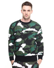 -FEATURES- - MOVE CAMO CREW NECK